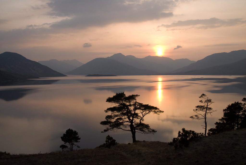 Loch Quoich sunset